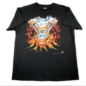 Vintage 3D Emblem Harley Davidson T Shirt Mens L